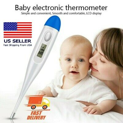 Digital Thermometer Medical LCD Display Oral Ear Underarm Audible FeverAdult