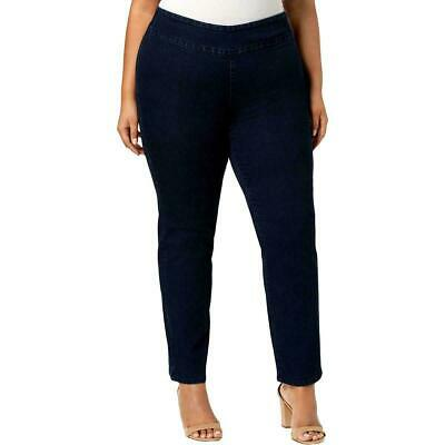 Charter Club Womens Jeans Blue Size 22W Plus Slim-Leg Pull-On Stretch $69 525