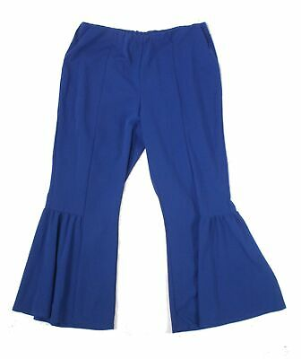 NY Collection Womens Pants Blue Size 2X Plus Flare-Leg Pull-On Stretch $54 077