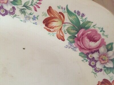 Wedgewood China floral dinner platter - vintage