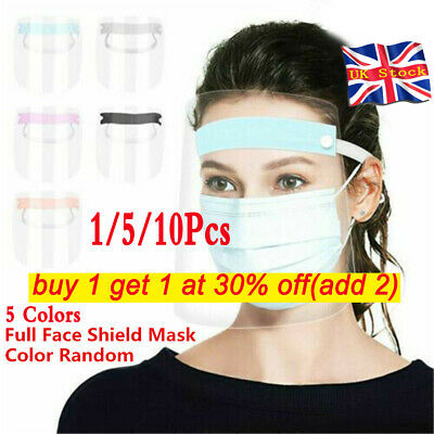 Safety Full Face Shield Clear Flip Up Visor Oil Fume Protection Work Guards UK