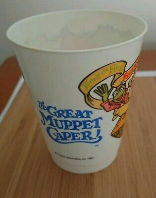RARE VINTAGE MCDONALD'S THE GREAT MUPPET CAPER THE MUPPETS CUP 1981~Fozzie Bear