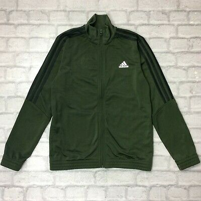 Adidas Originals Boys Uk 13-14 Years Khaki  Poly Track Top Sportswear Activewear