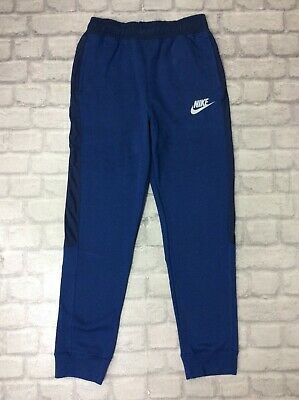 Nike Boys 13-15 Yr Hybrid Fleece Joggers Junior Blue Track Pants J