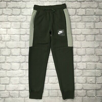 Nike Air Boys 12-13 Year Junior Khaki Fleece Pants Joggers Jogging Bottoms
