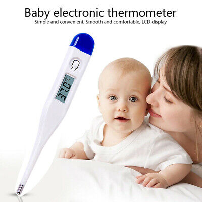 Digital Thermometer Medical LCD Display Oral Ears Underarm Audible Fever