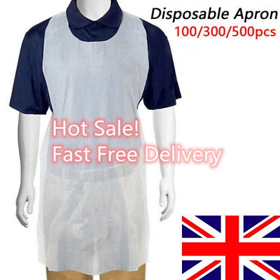 500PCS Disposable Waterproof High Density Polythene Apron Healthcare Protection