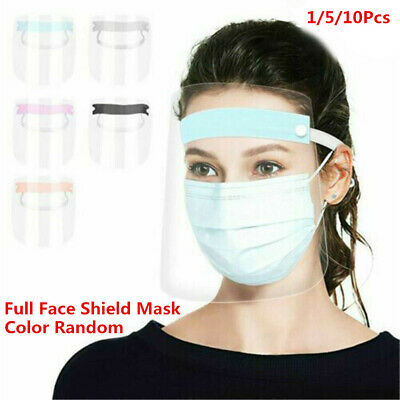 Full Face Shield Clear Flip Up Visor Oil Fume Protection Safety Work Guards UK#