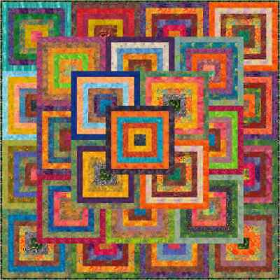 """KANAWA - 73"""" - Pre-cut Patchwork Quilt Kit by Quilt-Addicts Double"""