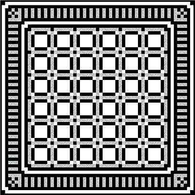 """BLACK BETTY - 60"""" - Quilt-Addicts Precut Quilt Kit Double size"""