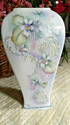 7.5Inches Hand Painted Porcelain Vase From Germany