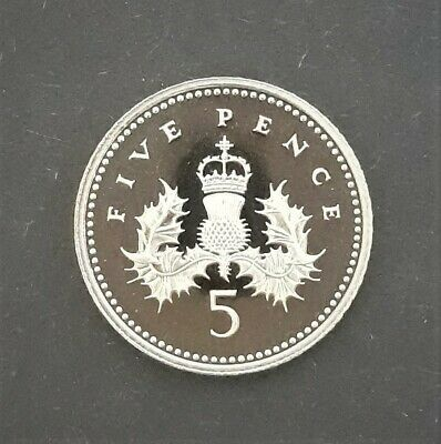 1992 Great Britain Proof Five Pence 5p Coin From A Royal Mint Proof Set