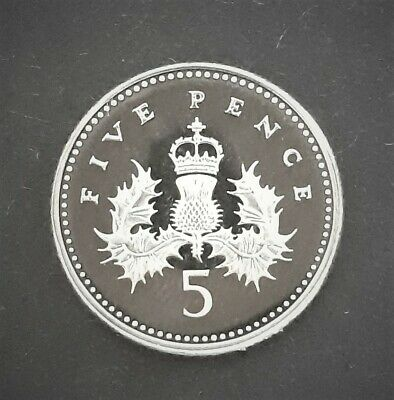 2004 Great Britain Proof Five Pence 5p Coin From A Royal Mint Proof Set