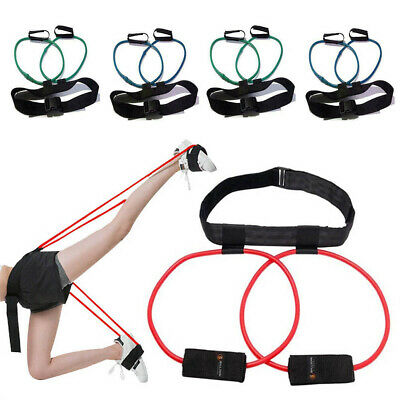 40LB Resistance Bands Waist Bounce Leg Training Pedal Device Belt Pull Rope New