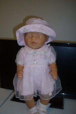 Zapf Creations Pink Eyed Baby Born Dressed In Pink/White