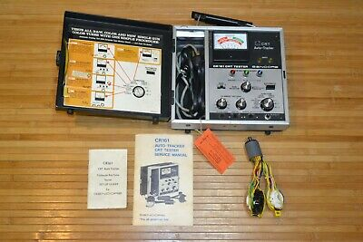 Sencore CR161 Cathode Ray Tube Tester with Adapters Powers On