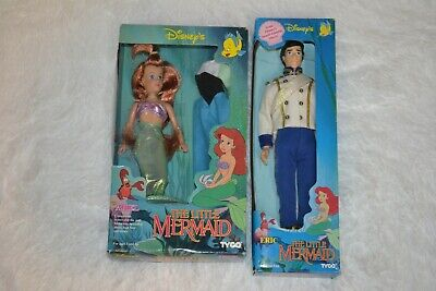 Vintage TYCO Disney's The Little Mermaid Bikini Ariel & Prince Eric Dolls NIB