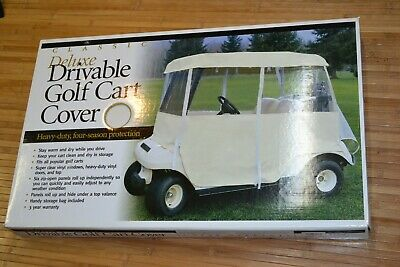 CLASSIC ACCESSORIES Deluxe Drivable 2-Person Golf Cart Cover #72073