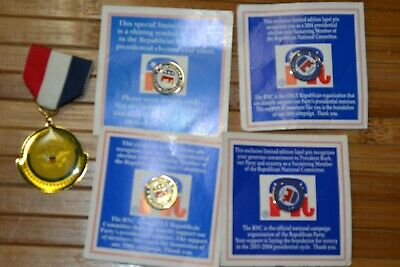 1996 Republican National Convention Presidential Task Force Pins 2000 2004 MAGA
