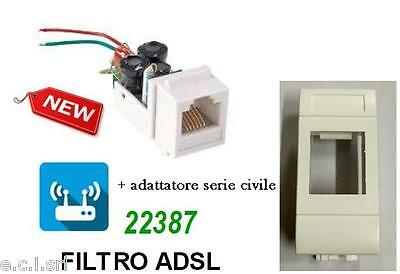 Filter ADSL RJ11 Containing Recessed Frutto for Bticino Living Light White