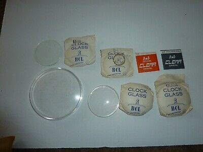 Job lot of clock/watch glass