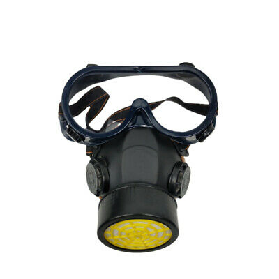 Emergency Respirator Mask Chemical Gas Mask with Goggles Dual  Protection
