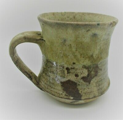 Unresearched Old Antique Glazed Terracotta Drinking Cup