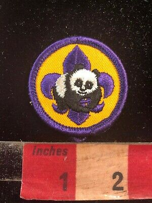 Small Purple Border PANDA Patch 03SA