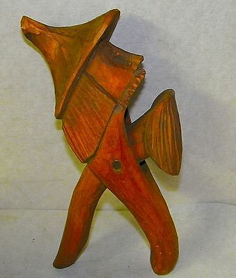 Vintage Hand Carved Wood Nutcracker Man Hat German Great Craftsmanship
