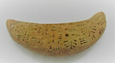 Circa 2000 Bce Ancient Near Eastern Clay Tablet With Early Form Of Writing