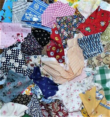 337 grms COTTON / MIXED FIBRE OFFCUTS SCRAPS FABRIC MATERIAL SEWING REMNANTS E15