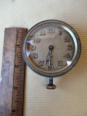 Antique AUTO CLOCK,Car,Automobile, 8-Day SWISS,Hamilton,Inches,15 Jewels,Working