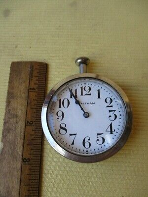 "Antique AUTO CLOCK,Car,Automobile, 8-Day WALTHAM ""American Traveler"",Working"