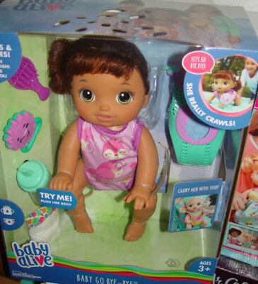 Baby Alive Baby Go Bye Bye, She Crawls, Talks, Carry Her With You