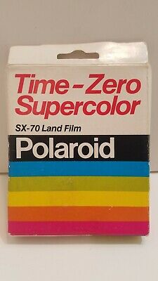 Polaroid Time-Zero Supercolor SX-70 Land Film 10 Photo Exp 05/82 Sealed