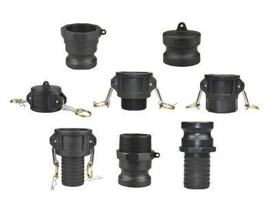 Camlock Coupling - All Types A,B,C,D,E,F Cam & Groove - Polyprop