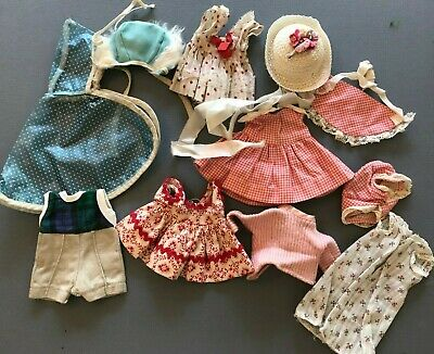 Lot of Vogue Ginny and Same sized Doll Clothing VINTAGE 1950's