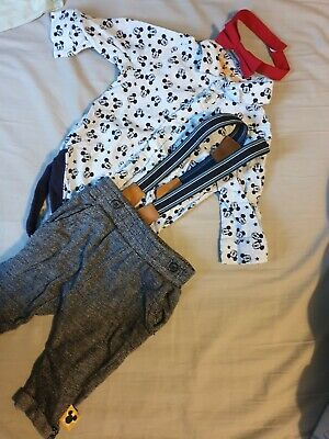 Very Cute Baby Boys Disney Mickey Mouse Outfit 0-3 Months