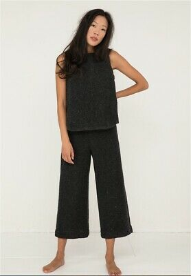 Elizabeth Suzann Florence Pant in Charcoal Lightweight Wool Pants Charcoal XXS R