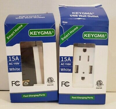 USB outlet 4.2 Amps fast charge 15amps 2 pack S