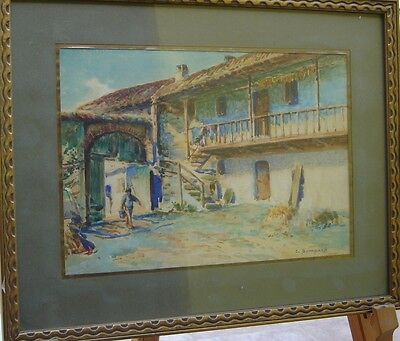 Late 19th/Early 20th Century French School W/C Signed J. Bompard