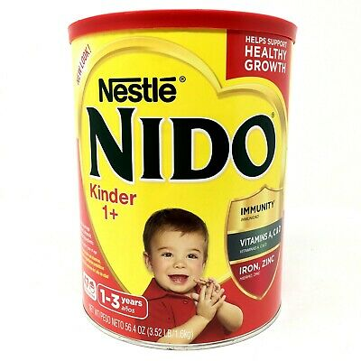 Nestle Nido Kinder 1+ powder Milk Beverage 56.4 oz 3.52 Lb/1.6 kg Healthy Growth