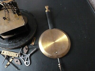 antique clock  movement -parts