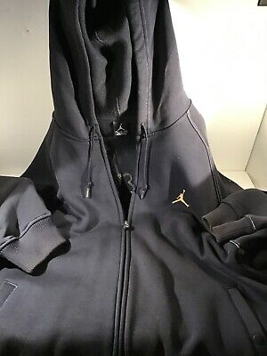 Vintage OG Jordan Jumpman  Hoodie Black Zip Up  XL