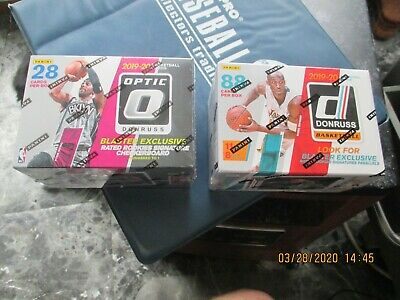 (2) 2019-2020 Panini NBA Optic - DONRUSS Basketball Blaster Box ZION WILLIAMSON