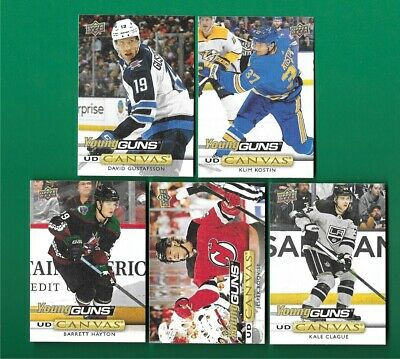 2019-20 Upper Deck Series 2 Canvas Young Guns Lot 5 Different Cards
