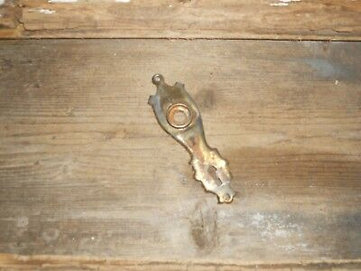 Vtg Old Antique Rustic Shabby Steampunk Art Deco  Rustic Door Knob Backplate