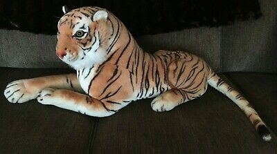"LARGE Best Made Toys Limited Realistic Bengal Tiger 44"" Plush Stuffed Animal Cat"