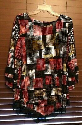 Women's Alfani Multi Color Pullover Top.  Size 2X.  PRETTY!
