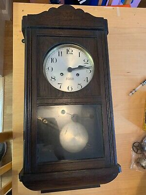 Vintage 8 Day Wooden Pendulum Wall Clock